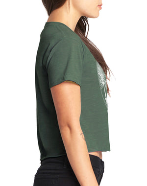 Women's Thrive Raw Edge Crop Tee - Breathe in Detroit