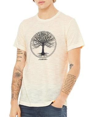 Unisex Thrive Natural Slub Tee - Breathe in Detroit