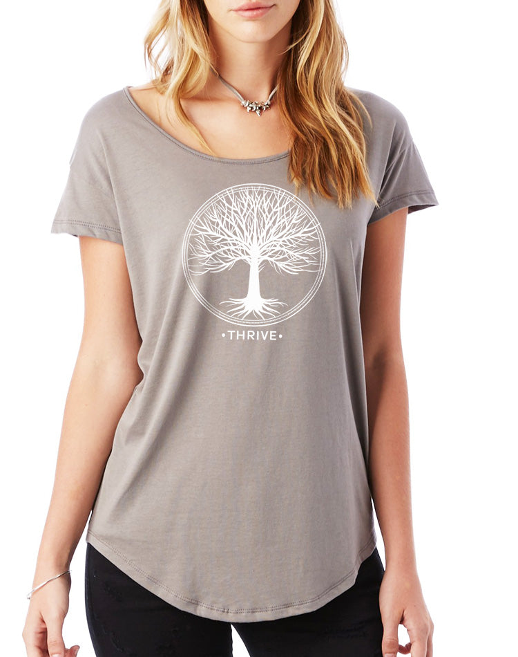 Women's Thrive Flowy Modal Tee - Breathe in Detroit