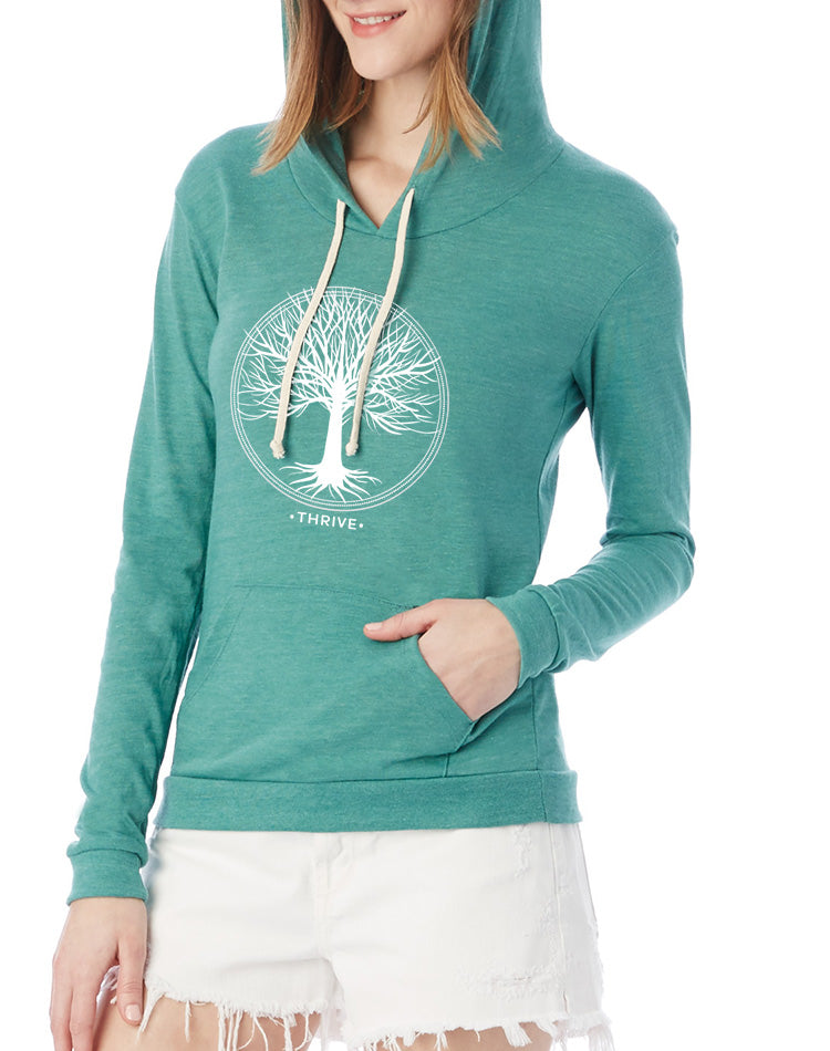 Women's Thrive Eco-Jersey Pullover Hoodie - Breathe in Detroit