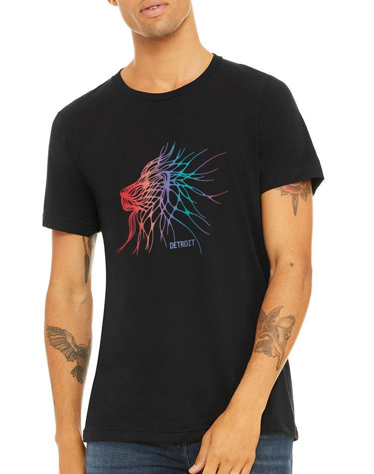Unisex Electric Lion Triblend Tee - Breathe in Detroit