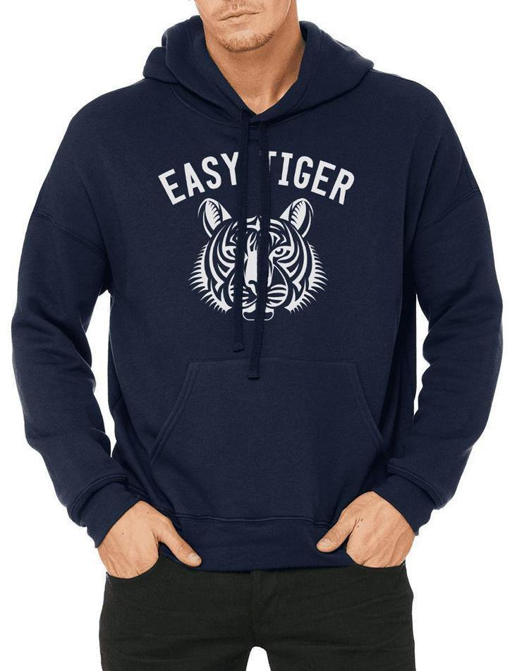 Unisex Easy Tiger Sponge Fleece Hoodie - Breathe in Detroit