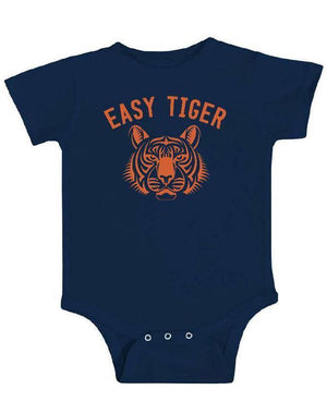 Easy Tiger Baby Bodysuit (Onesie) - Breathe in Detroit