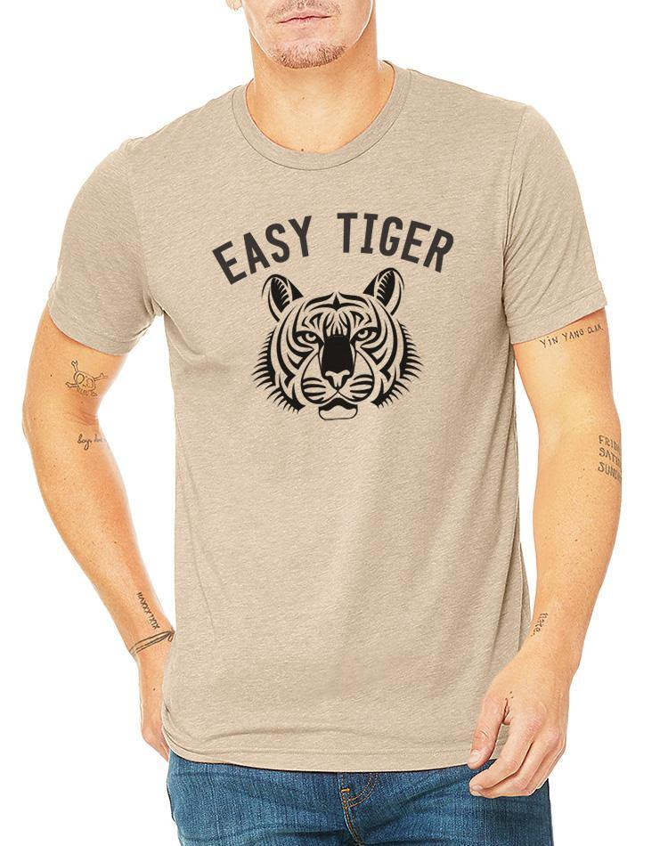 Unisex Easy Tiger Triblend Earth Tee - Breathe in Detroit