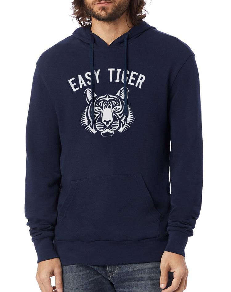 Unisex Easy Tiger Washed Terry Pullover Hoodie - Breathe in Detroit