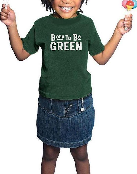 Toddler Born Green Spartans Tee - Breathe in Detroit