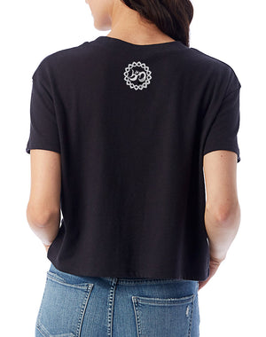 Women's Turn Up The Love Vintage Crop Tee - Breathe in Detroit