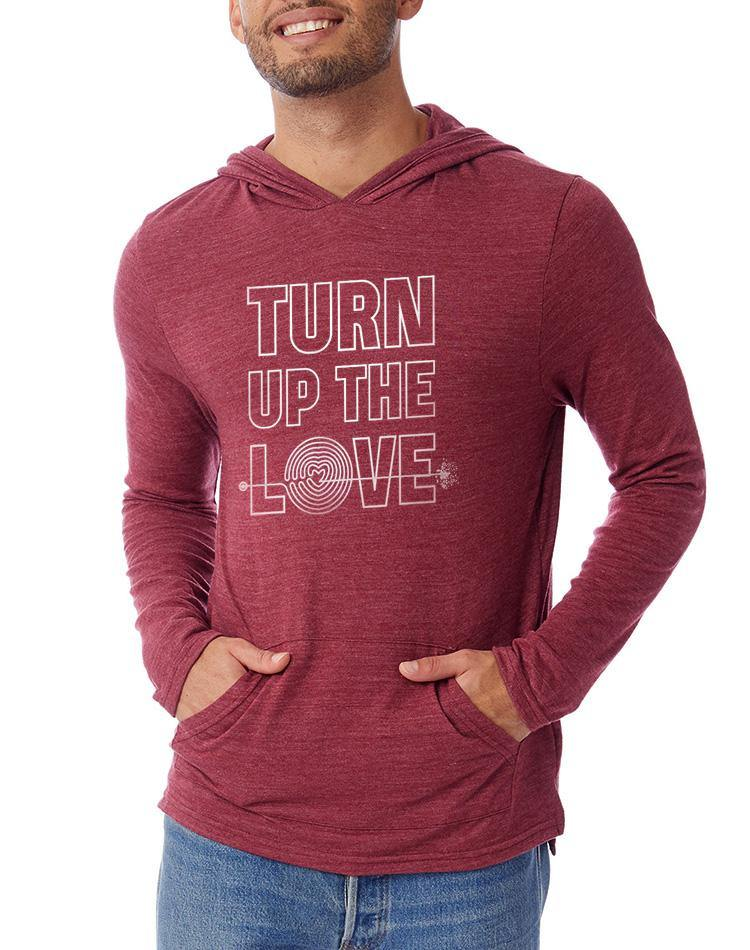 Unisex Turn Up The Love Eco Jersey Hooded Pullover - Breathe in Detroit