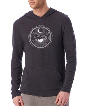Unisex Universe Eco Jersey Hooded Pullover - Breathe in Detroit