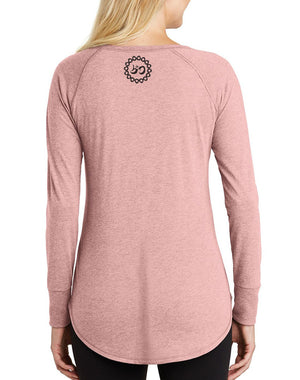 Women's Universe Triblend Long-Sleeve Tunic - Breathe in Detroit