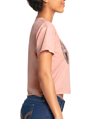 Women's Universe Raw Edge Crop Tee - Breathe in Detroit