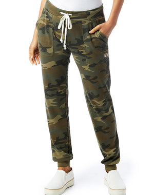 Women's Camo French Terry Jogger Lounge Pants - Breathe in Detroit