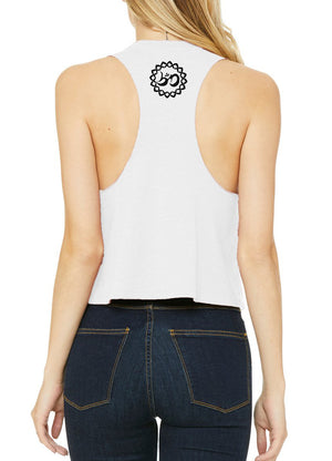 Women's Music Mandala Racer Crop Tank - Breathe in Detroit