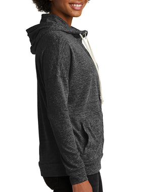 Women's Little Buddha Eco-Jersey Full-Zip Hoodie - Breathe in Detroit