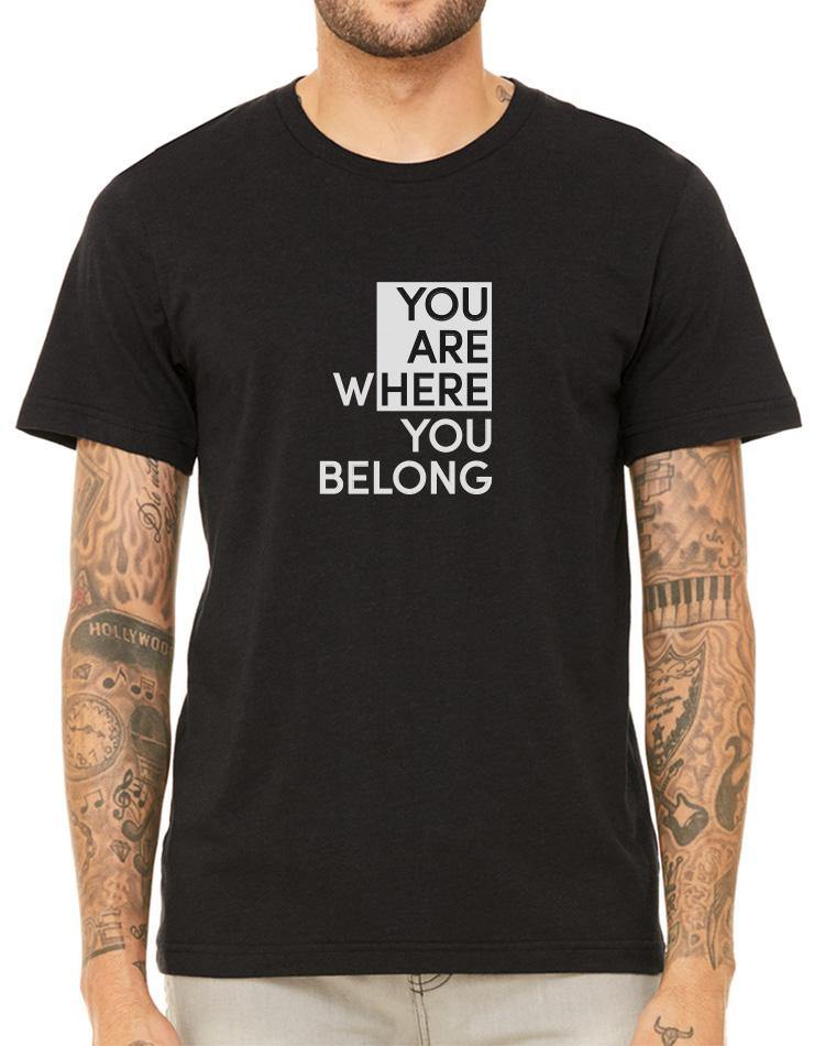 Unisex You Are Here Triblend Tee - Breathe in Detroit