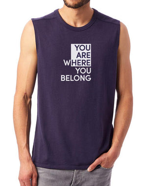 Unisex You Are Here Muscle Tank - Breathe in Detroit