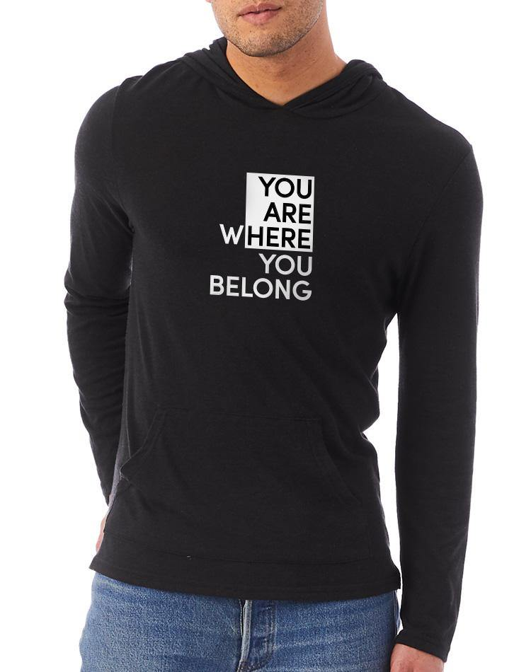 Unisex You Are Here Eco Jersey Hooded Pullover - Breathe in Detroit