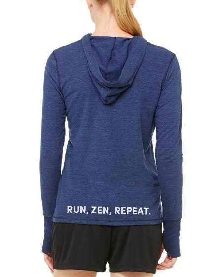 Women's Running Zen Performance Hoodie - Breathe in Detroit