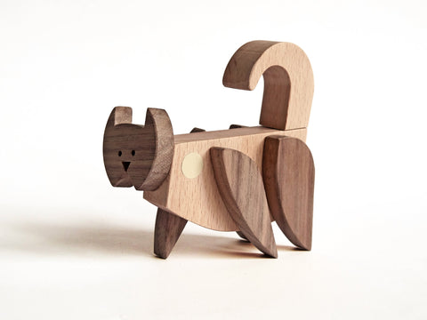 Wooden Magnetic Cat