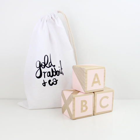 ABC/123 Stackers - pink
