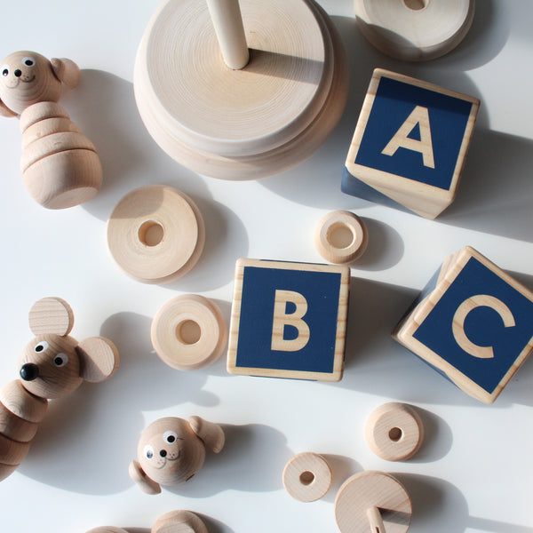 ABC/123 Stackers - navy