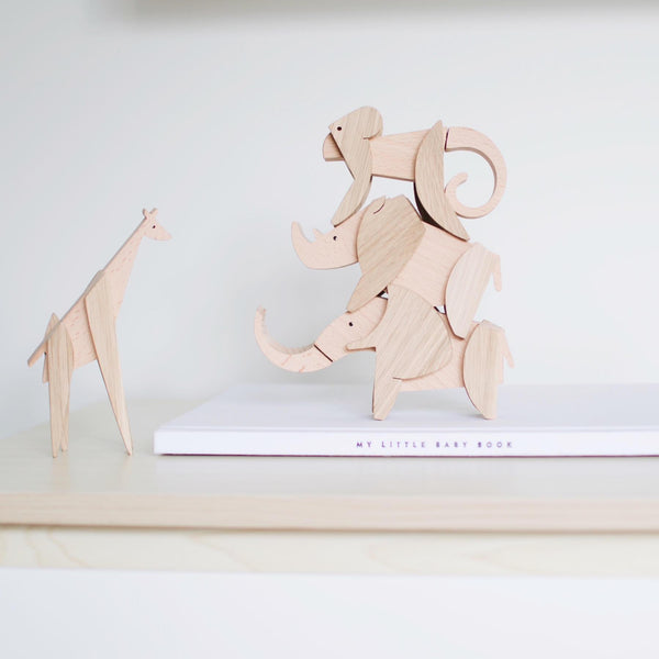 Wooden Magnetic Elephant