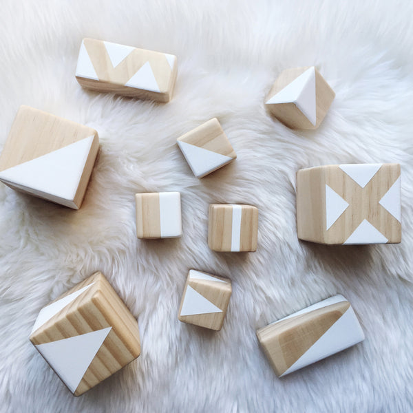 Personalised stacking blocks - white