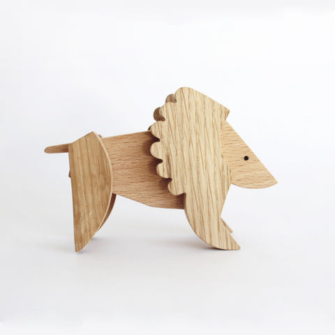 Wooden Magnetic Lion