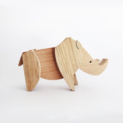 Wooden Magnetic Rhino