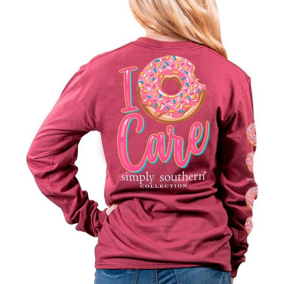 Simply Southern I Donut Care Long Sleeve Burgundy T-Shirt