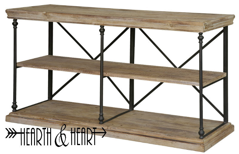 Metal and Wood Console
