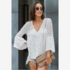 2020 Simple Spring Lady Batwing Sleeves Blouse For Women