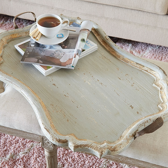 "38"" DISTRESSED TRAY"
