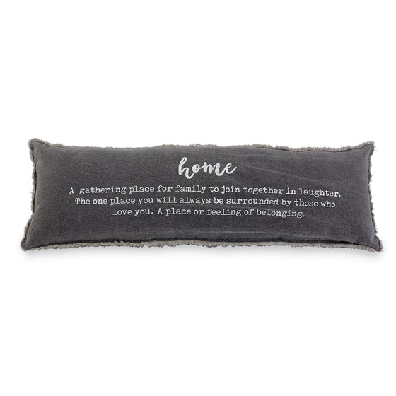 Home Definition Pillow- Gray