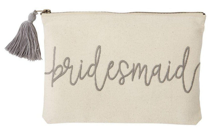 Bridesmaid Embroidered Canvas Carry-All Case