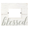 Rustic White Wood Picture Frame - Blessed