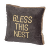 "Decorative Throw Pillow-Rustic Soft Pillow-""Bless This Nest"""