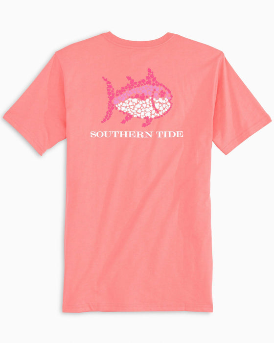 Southern Tide Light Coral Fall Leaves Tee