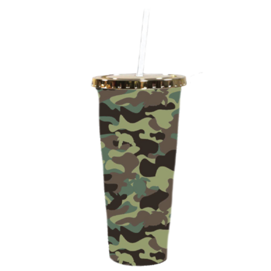 Simply Southern Camo Plastic Tumbler & Straw