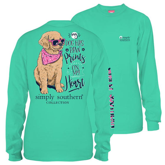 Simply Southern My Dog Has A Pawprint On My Heart Long Sleeve T-Shirt