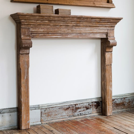 Reclaimed Pine French Country Mantel
