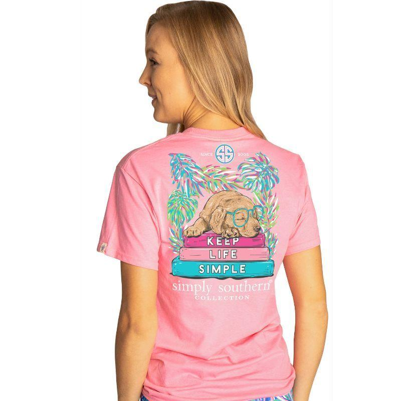 Simply Southern Keep Life Simple Flamingo Short Sleeve T-Shirt
