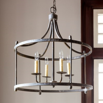 Savannah Large Iron Pendant Finished Canopy Incl/Chain