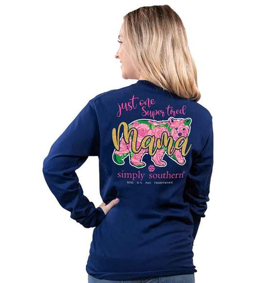 Simply Southern Super Tired Mama Long Sleeve T-Shirt
