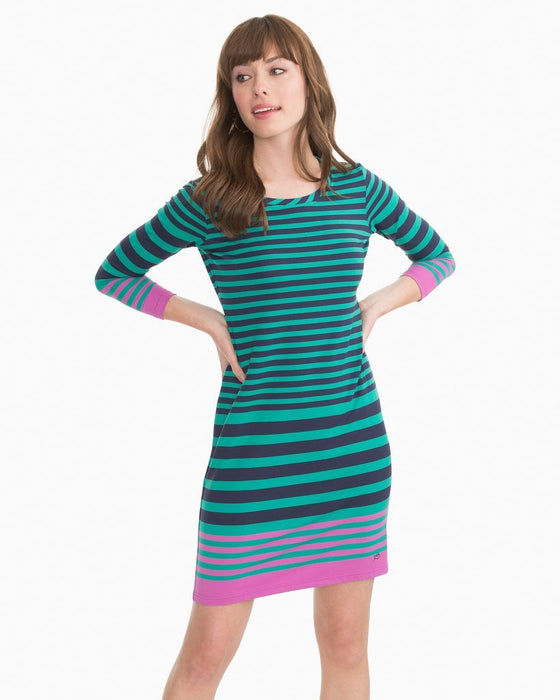 Southern Tide Clover Green Camille Performance Dress