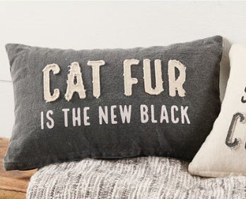 Cat Fur Washed Canvas Pillow