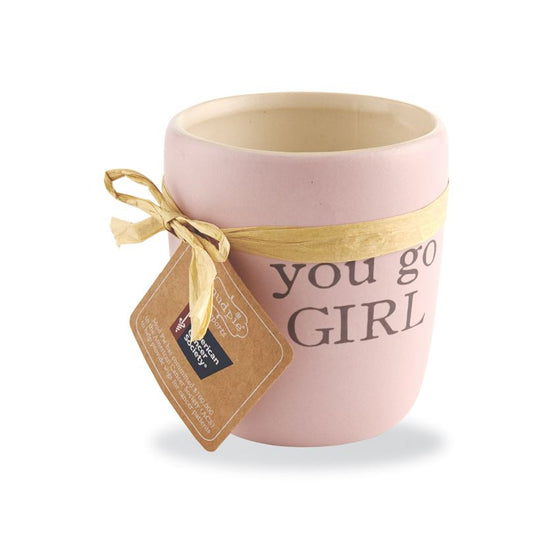 Vanilla Go Girl Ceramic Candle