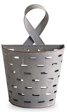 Small Perforated Tin Wall Basket