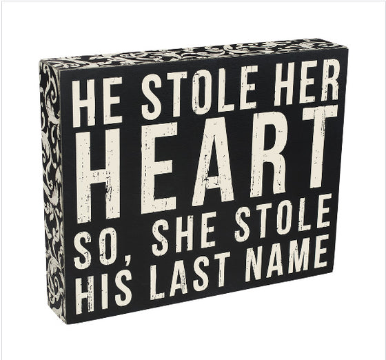 Last Name Box Sign