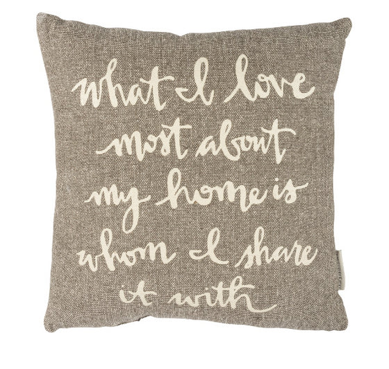 What I Love Pillow